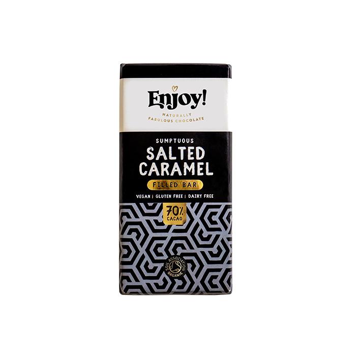 Org Enjoy Salted Caramel Filled bar 70g
