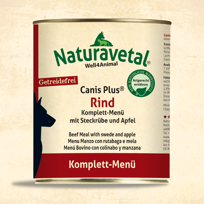 NATURAVETAL BEEF WITH SWEDE & APPLE - 400G