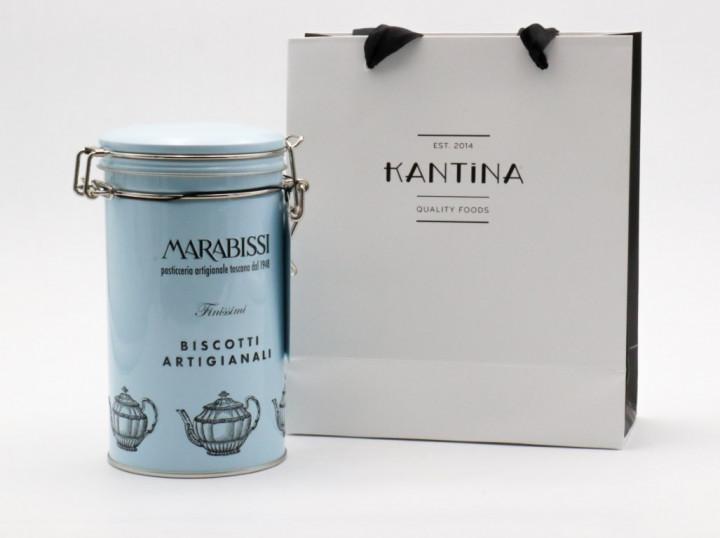 MARABISSI Biscotti canella, cioccolato & arancia 200g in gift bag