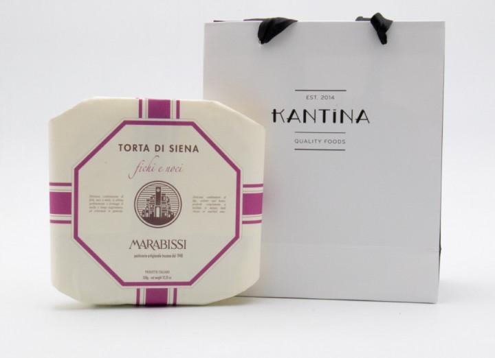MARABISSI Torta Fichi & Noci 350g in gift bag