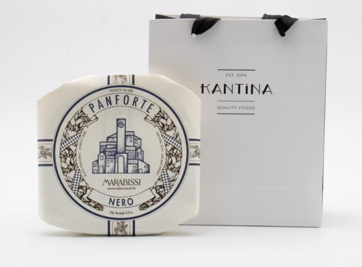 MARABISSI Panforte Nero 350g in gift bag