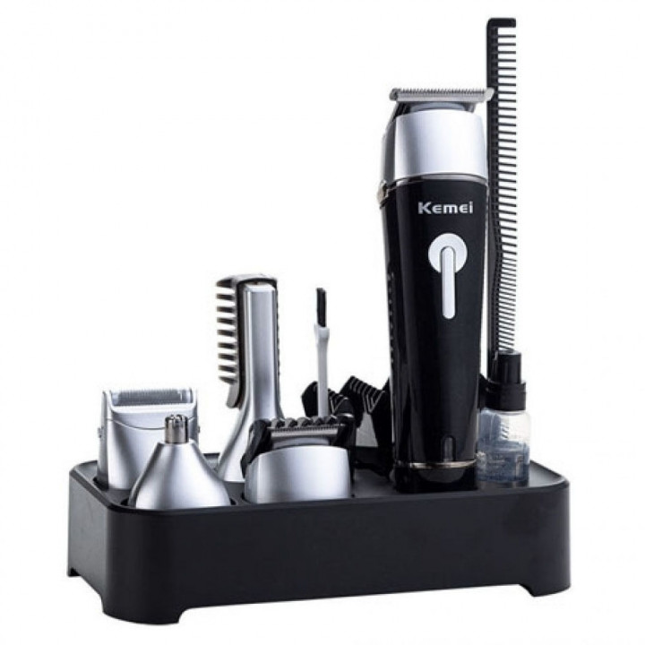 Kemei Km-1015 Rechargeable Waterproof Trimmer And Shaver 10 In 1 Super Grooming Kit