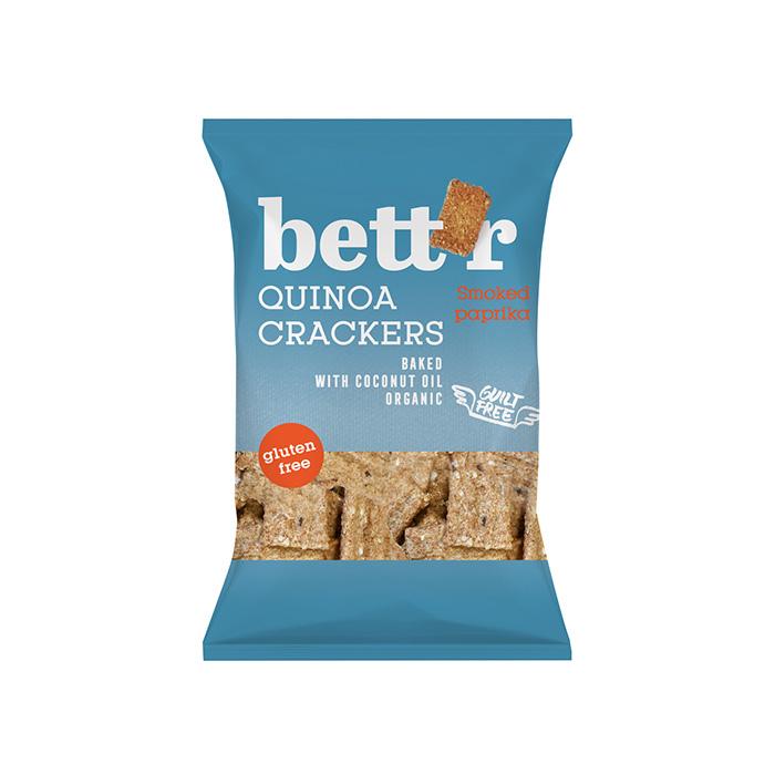 Quinoa crackers smoked paprika GLUTEN FREE 100g