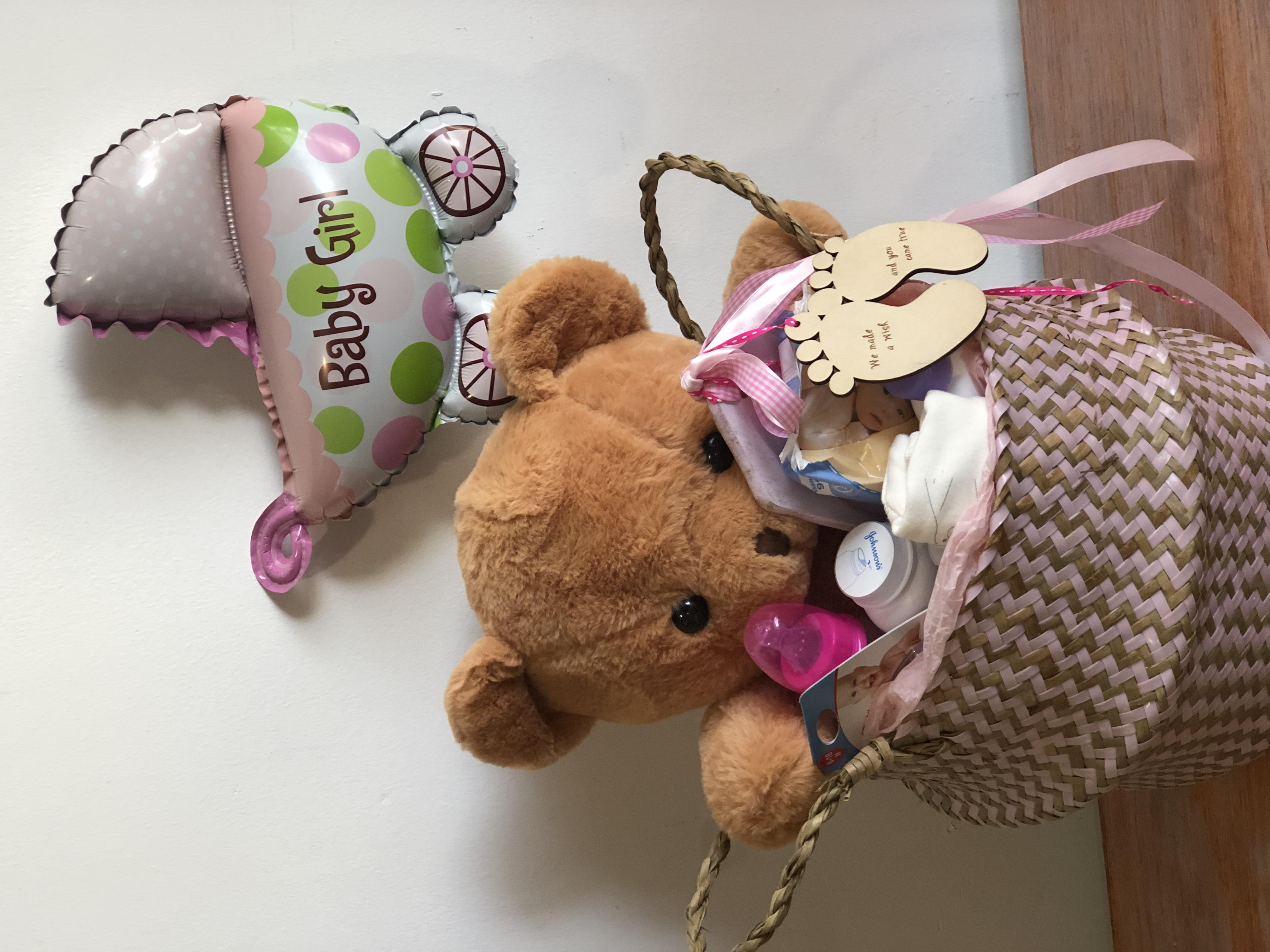 Baby Girl - Large Basket