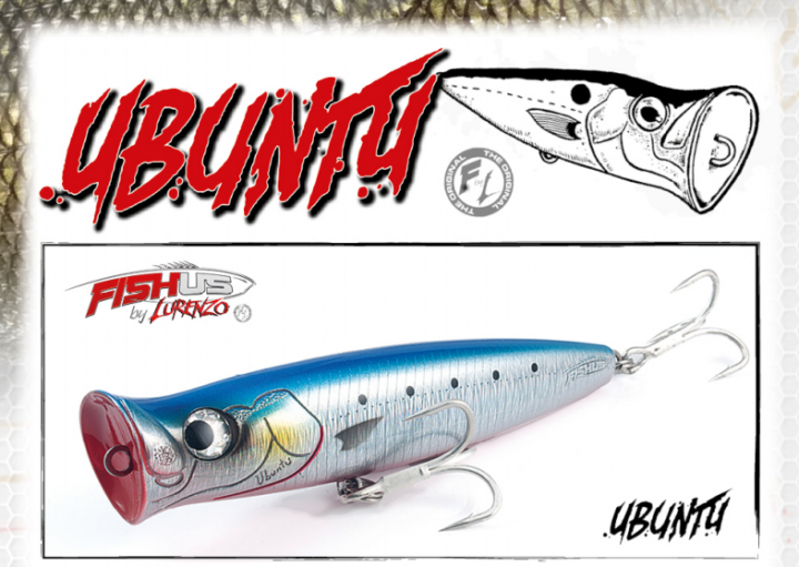 FISHUS LURENZO UBUNTU 135F POPPER HARD LURES 135mm 44gr - MAHI