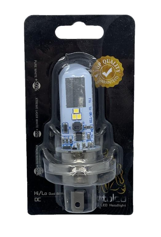 Motorcycle LED Headlight - Hi/Lo Dual Beam DC