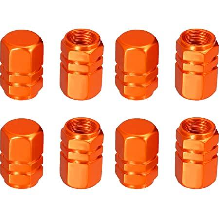 orange tire valve cap