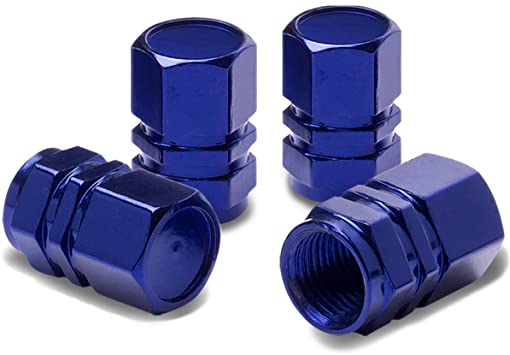 blue tire valve caps