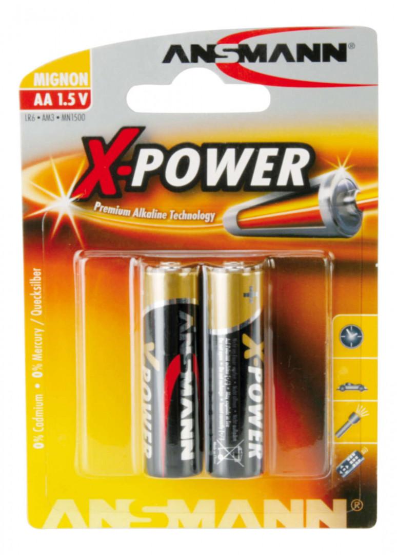 Ansmann X-Power Alkaline Battery AA / LR6 2 pcs.