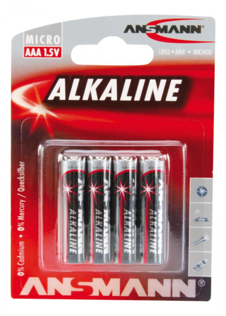 Ansmann Alkaline Battery AAA / LR03 4 pcs.