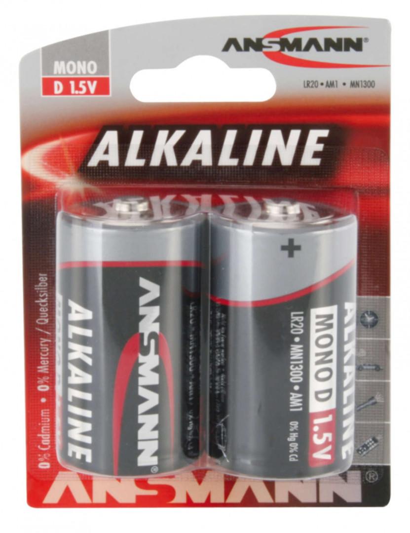 Ansmann Alkaline Battery D / LR20 2 pcs.