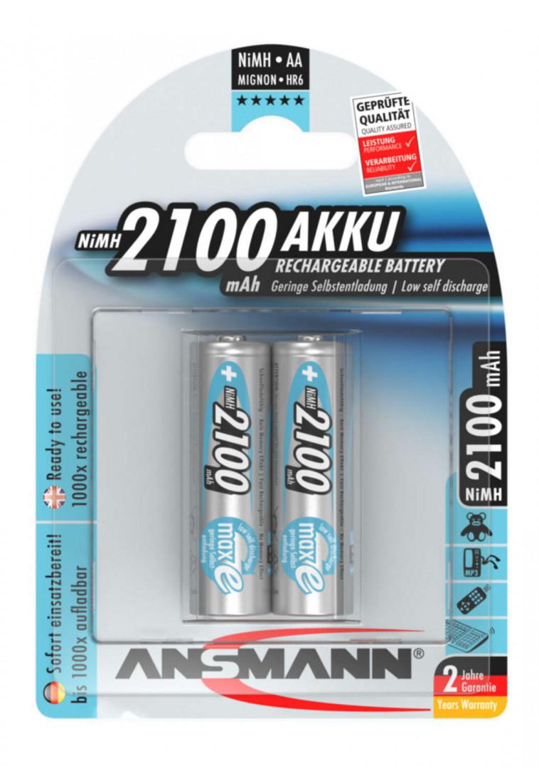 Ansmann NiMH Rechargeable battery AA / HR6 2100 mAh maxE 2 pcs.