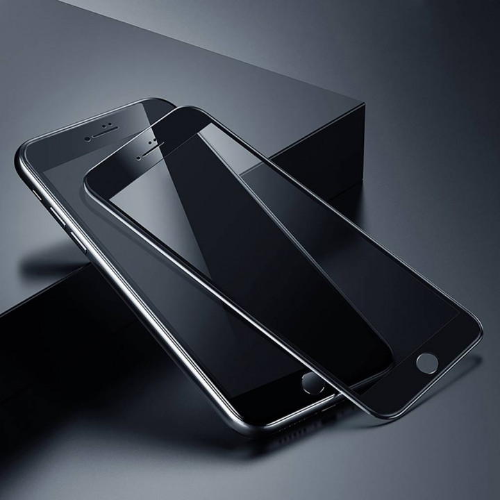 Baseus iPhone 8/7 curved-screen T-Glass crack-resistant edges A-spy Black