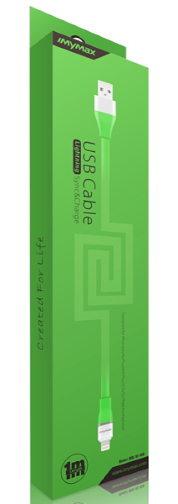 iMYMAX Lightning USB Cable Green