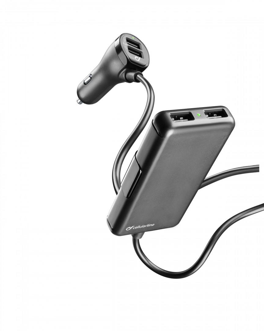 Cellular Line Car Charger 7.2A 4 USB