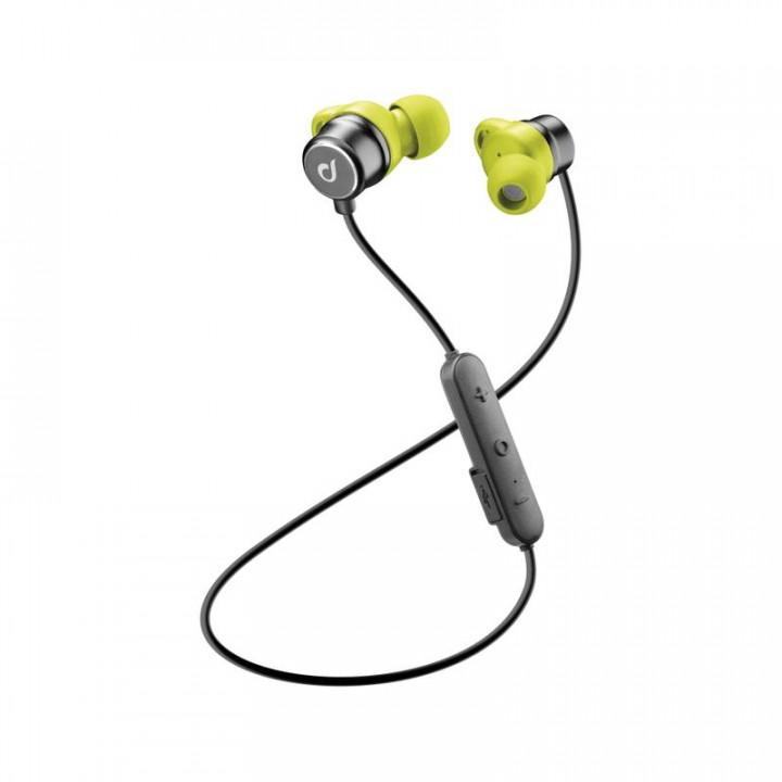 Cellularline In-ear Bluetooth Run - Lime Grey