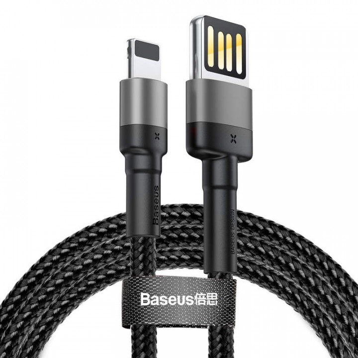 Baseus Lightning Cafule Cable special edition 1.5A 2m Gray + Black