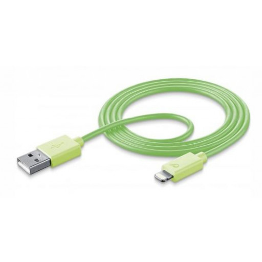 USB DATA CABLE MFI IPH5 GREEN