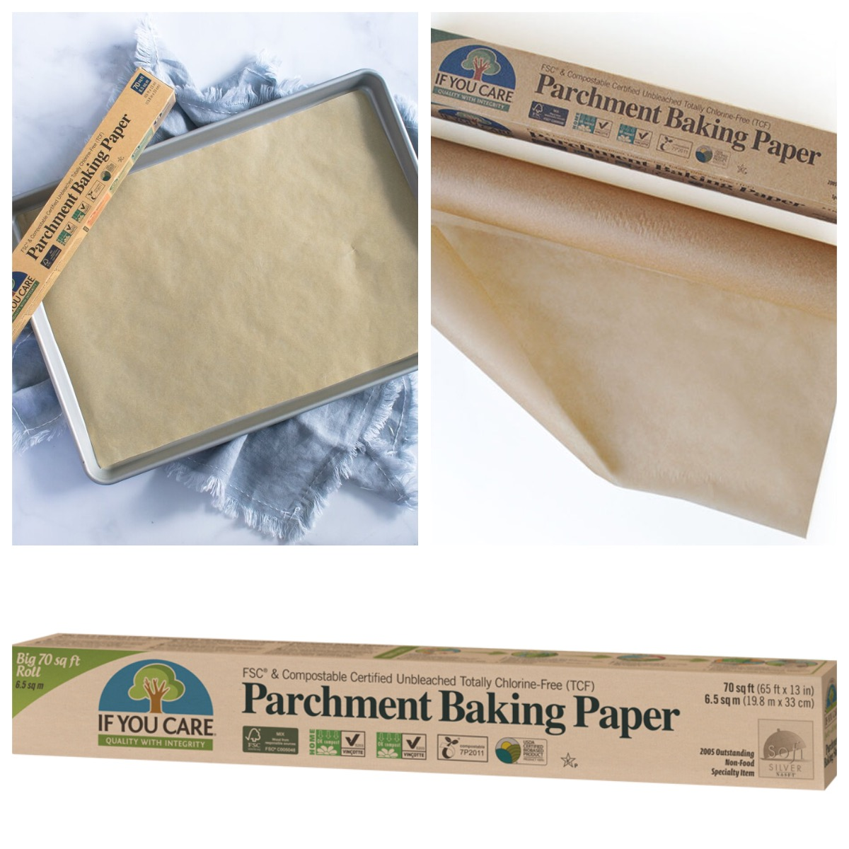 IF YOU CARE  PARCHMENT BAKING SHEETS 24 Pre-cut Sheets