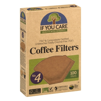 IF YOU CARE COFFEE FILTERS No.4 (100 filters)