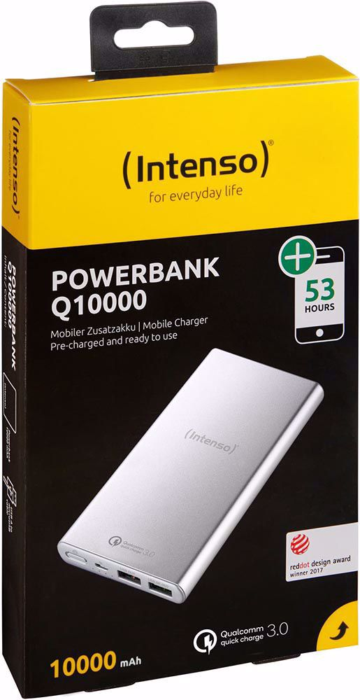 Intenso Quick Charge Q10000 Silver Powerbank