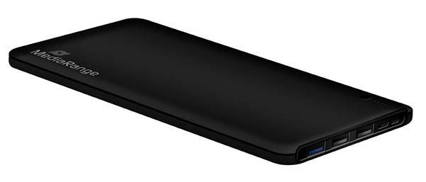 MediaRange Mobile Charger Powerbank 25.000mAh with triple USB output and Quick Charge function