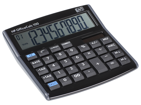 HP 10-Digit Calculator Officecalc 100 HPF2220AA