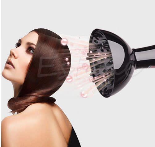 Hair Dryer Universal Diffuser Blower Black