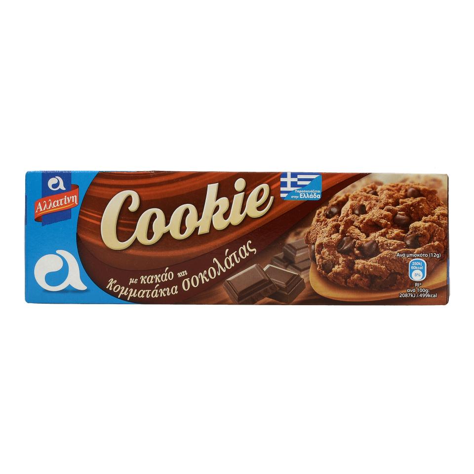 ALLATINI COOKIE COCOA&CHOCO CHIPS 175G