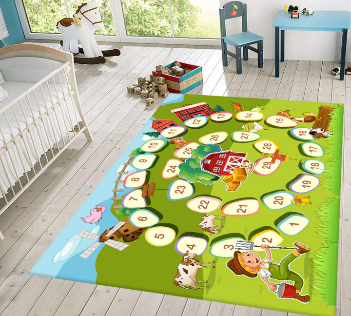 Numbers kids carpet - Micro Polyester Fabric - 100X150cm