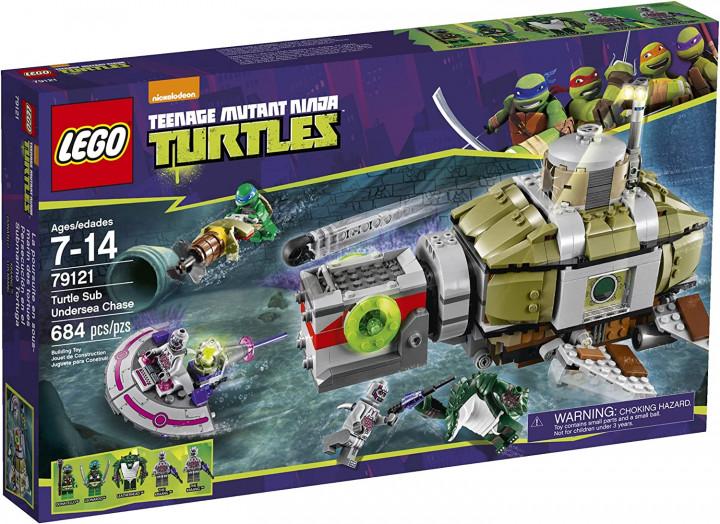LEGO Ninja Turtles 79121 Turtle Sub Undersea Chase Building Set – 7-14 AGES