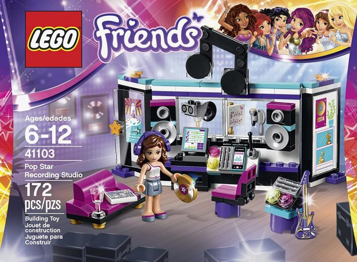 LEGO Friends 41103 Pop Star Recording Studio Building Kit 6-12 AGES