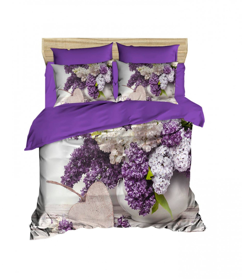 Children SINGLE DUVET COVER SET with BED SHEETS AND PILLOW CASES - Flowers Design