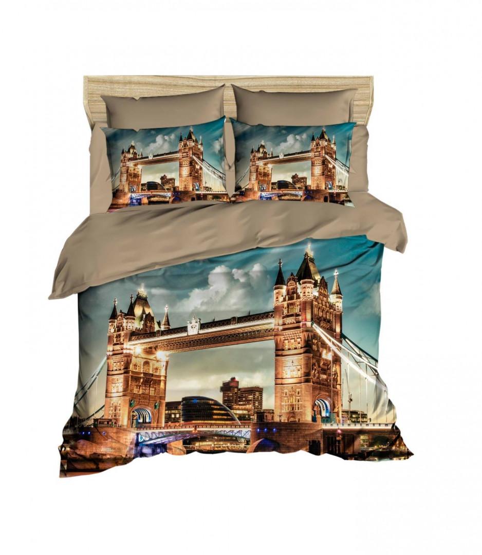 Children SINGLE DUVET COVER SET with BED SHEETS AND PILLOW CASES - London Bridge Design