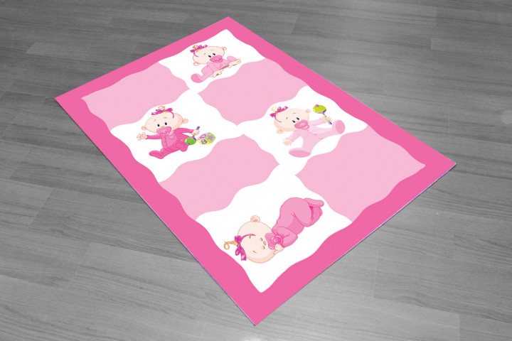 Baby kids carpet - Micro Polyester Fabric - 100 X 50CM