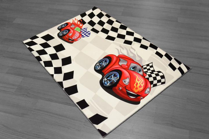 Cars Hali kids carpet - White - Micro Polyester Fabric - 100X150cm
