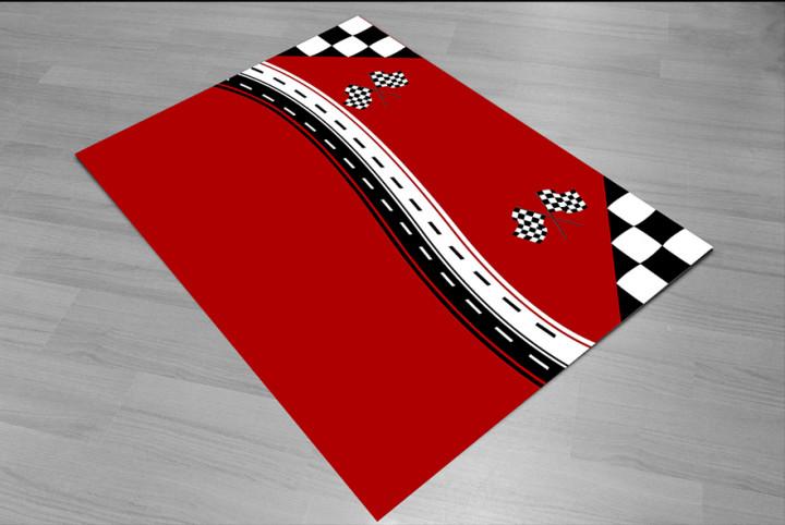 Finish line racing kids carpet - Micro Polyester Fabric - 100X150cm