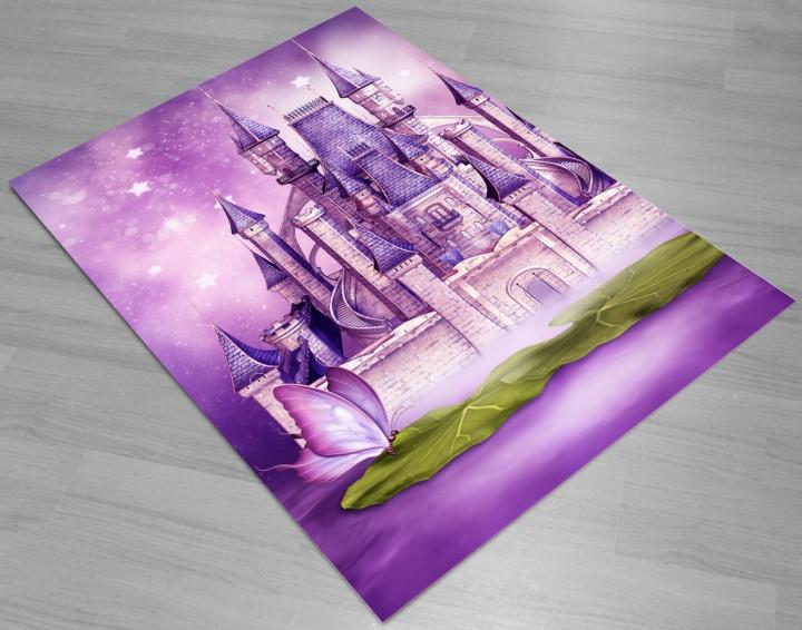 Kingdom of butterflies kids carpet - Micro Polyester Fabric - 100X150cm