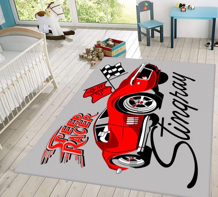 Speed Racer kids carpet - Micro Polyester Fabric - 100X150cm