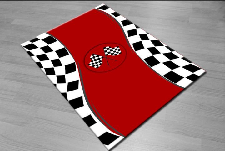 Racing kids carpet - Micro Polyester Fabric - 100X150cm