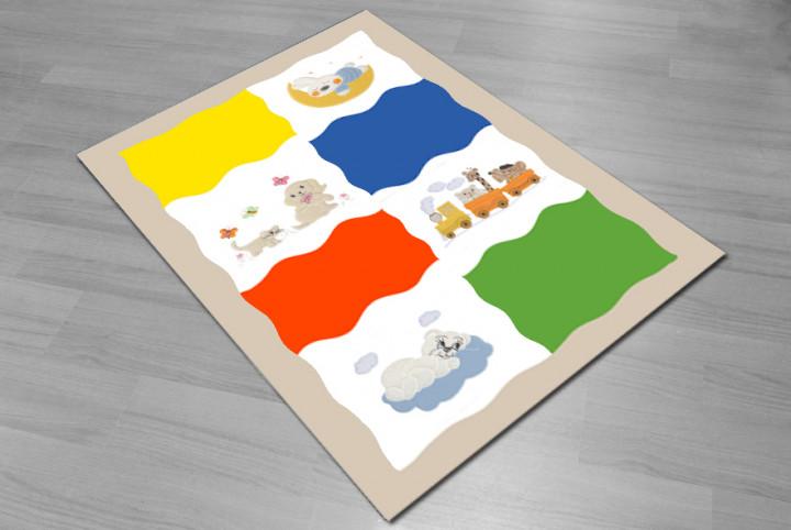 Rainbow dreams kids carpet - Micro Polyester Fabric - 100X150cm