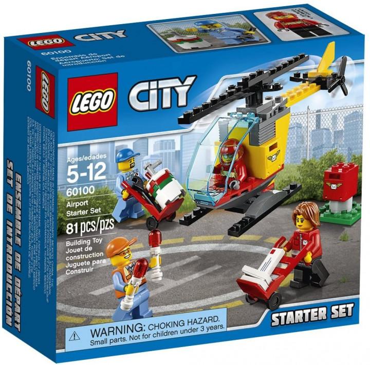 LEGO 60100 City Airport Starter Set, Building Kit (81 Piece)