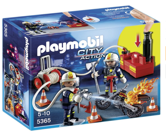 Playmobil 5365 City Action Fire Brigade Firefighters with Water Pump – Multi-Coloured