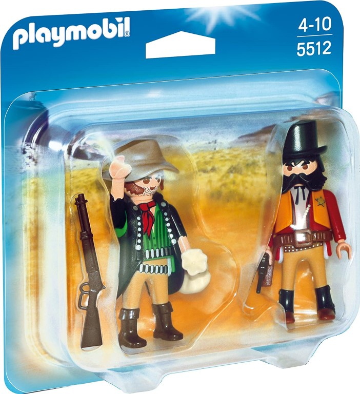 Playmobil Duo Pack Sheriff and Bandit 5512 with NEW & OVP Western Cowboy
