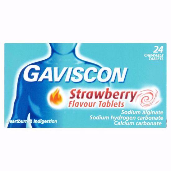 Gaviscon 250mg Strawberry - 24 Tablets