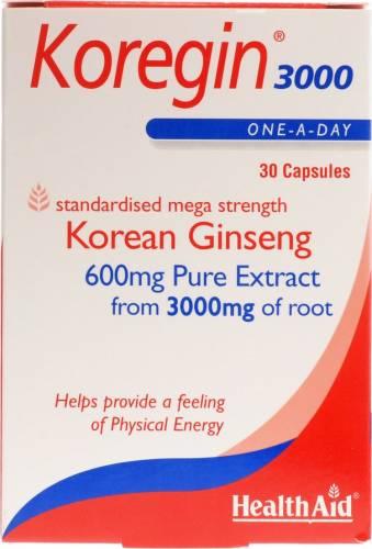 Health Aid Koregin Ginseng 3000mg - 30 tablets