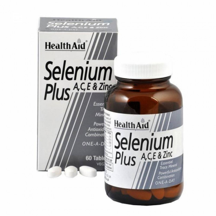 Health Aid Selenium A+c+e - 60 Tablets