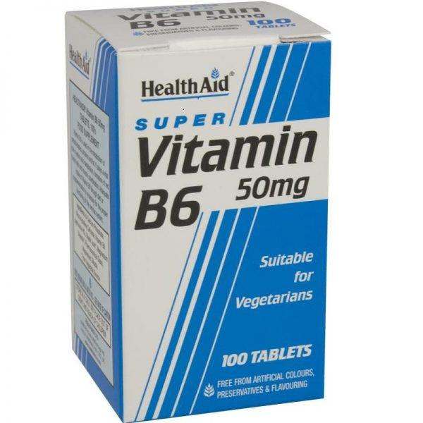 Health Aid Super Vitamin B6 50mg - 100 Tablets