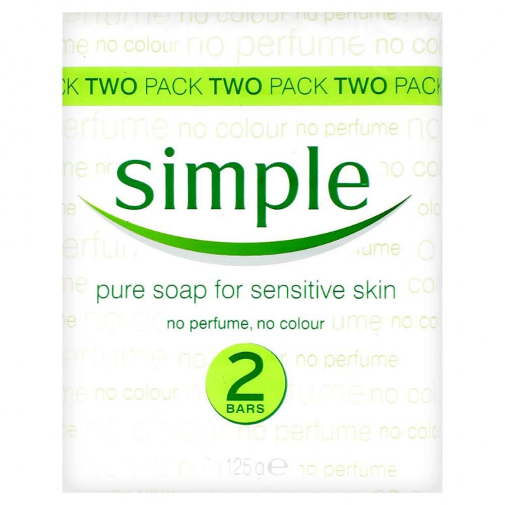 Simple Pure Twin Pack Soap - 2 pieces