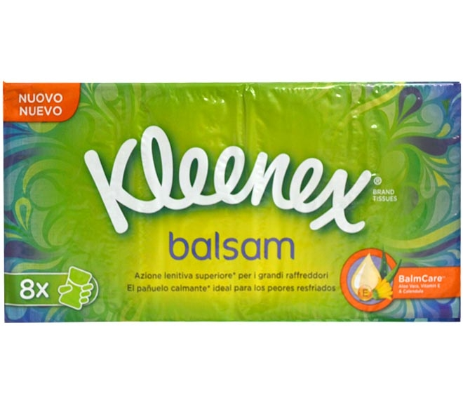 KLEENEX HANKS BALSAN PACK OF 8